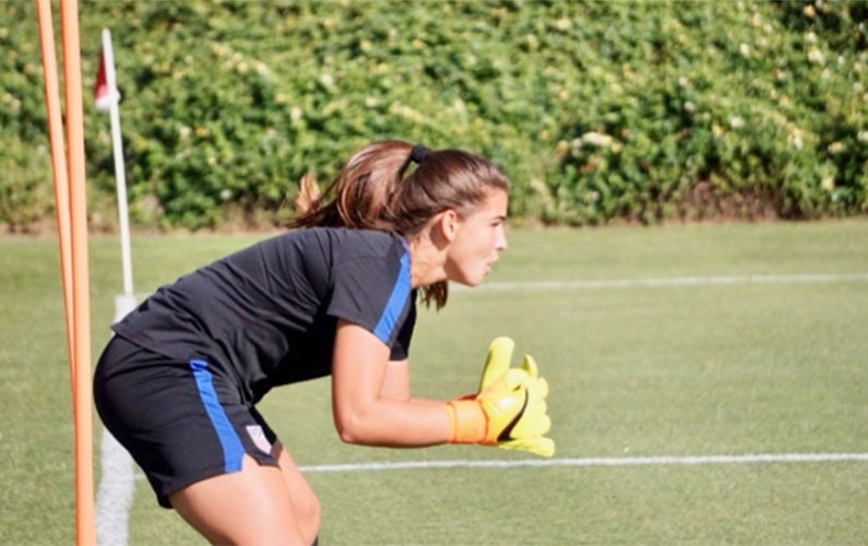 GDA goalkeeper Alia Skinner Top Drawer Soccer Thinx Club Player of the Week